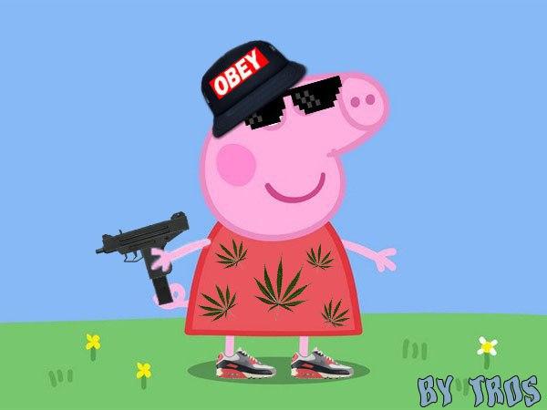 Крутая свинка пеппа картинка